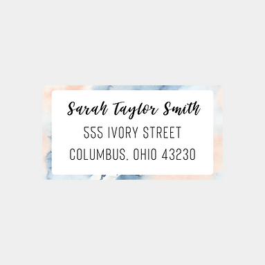 Abstract Watercolor Return Address Labels