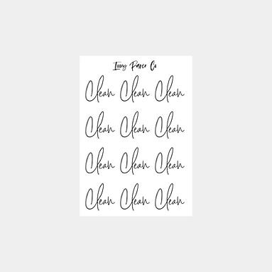 Clean Script Foil Sticker Sheet