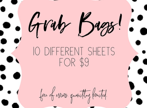 Grab Bags Are Here.. And Going FAST!