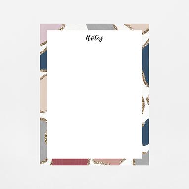 Glitter Animal Print Notepad | Customize Me
