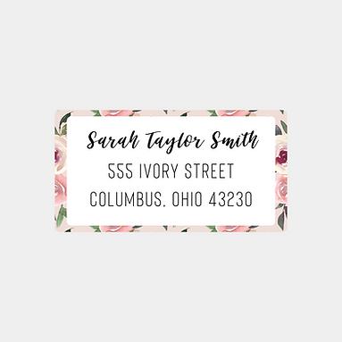 Mauve Watercolor Return Address Labels