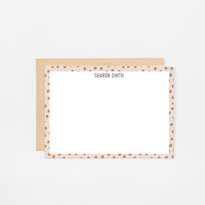 Spotted Tan | Personalized Stationery Note Cards