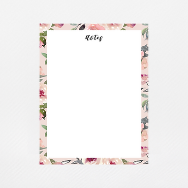 Mauve Watercolor Notepad | Customize Me