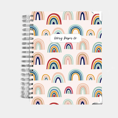 Rainbow Undated Ivory Paper Co Planner
