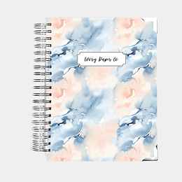 Abstract Watercolor Undated Ivory Paper Co Planner