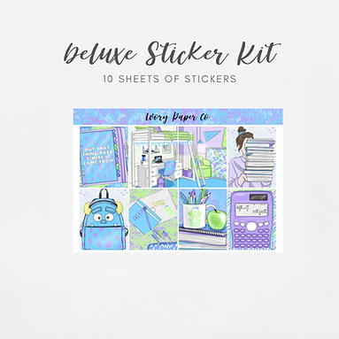 Monsters   Deluxe Kit (Glossy Planner Stickers)
