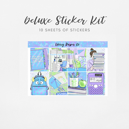 Monsters | Deluxe Kit (Glossy Planner Stickers)