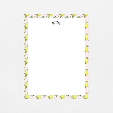 Pink Lemons Notepad | Customize Me