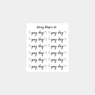Payday Script Sticker Sheet