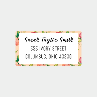 Coral Peaches Return Address Labels