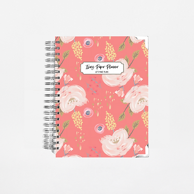 Coral Floral Undated Ivory Paper Co Planner