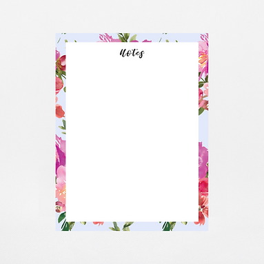 Pale Blue Watercolor Notepad | Customize Me