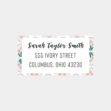 Colorful Geometric Return Address Labels