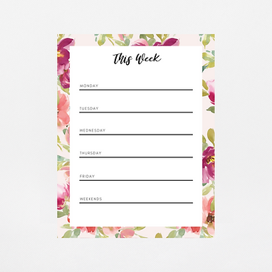 Blush Watercolor Weekly Notepad | Customize Me