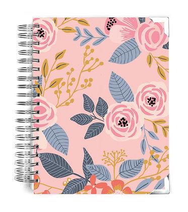Pink Vintage Floral Notebook