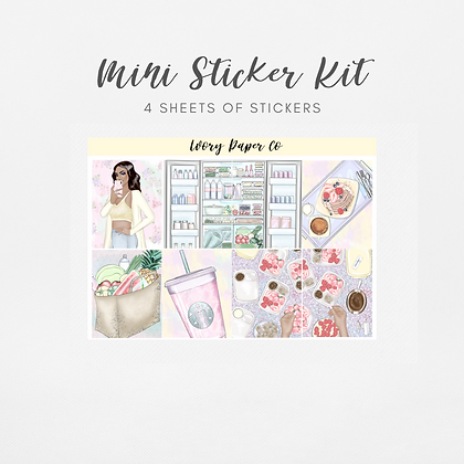 Healthy Living | Mini Kit (Glossy Planner Stickers)