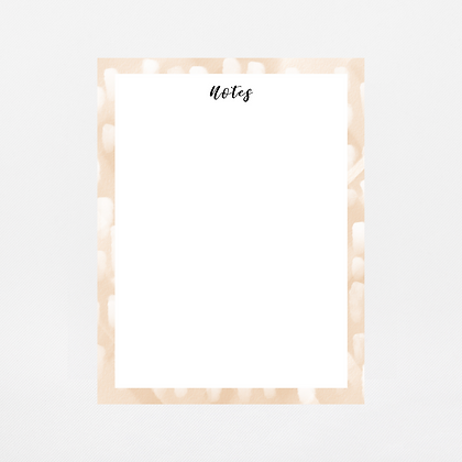 Pale Brush Strokes Notepad | Customize Me