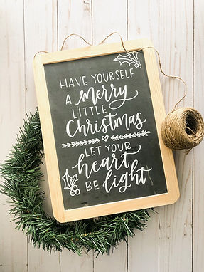 Brush Lettered Chalkboards | November 5th