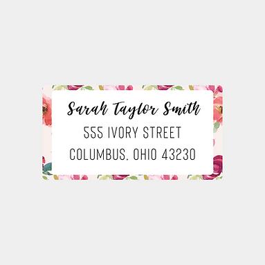 Blush Watercolor Return Address Labels