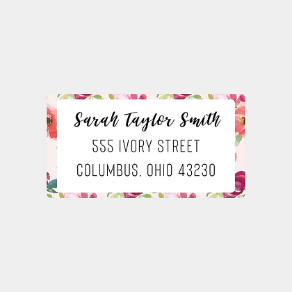 Blush Watercolor Return Address Labels