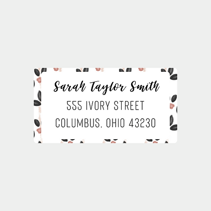 Vintage Blooms Return Address Labels