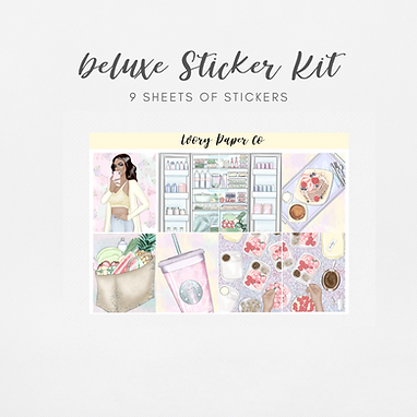 Healthy Living | Deluxe Kit (Glossy Planner Stickers)