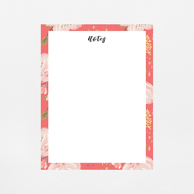 Coral Floral Notepad | Customize Me