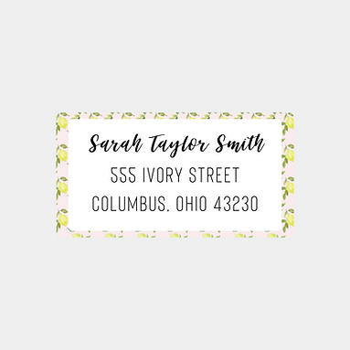 Pink Lemons Return Address Labels