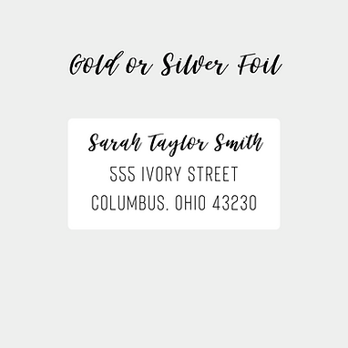 Gold/Silver Foil Return Address Labels