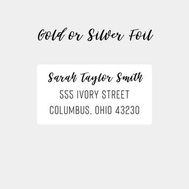 Gold/Silver Foil Return Address Labels