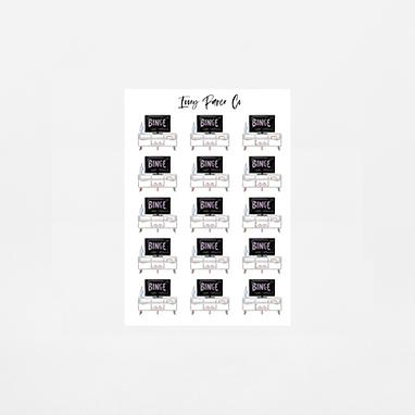 Netflix Binge Icon Sticker Sheet
