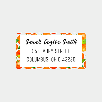 Mandarin Return Address Labels