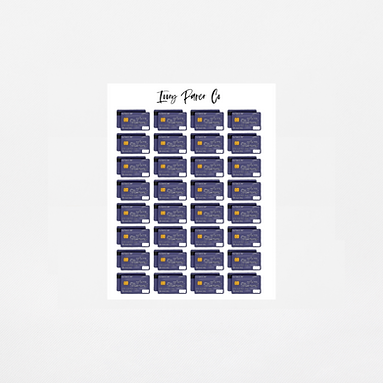 Credit Card Icons Sticker Sheet