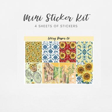 Dolce | Mini Kit (Glossy Planner Stickers)