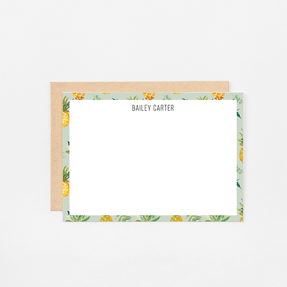 Pineapple | Personalized Stationery Note Cards