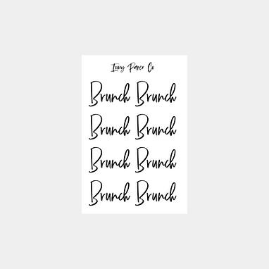 Brunch Script Foil Sticker Sheet