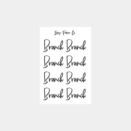 Brunch Script Foil Sticker Sheet