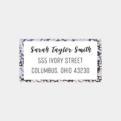 Deep Speckled Return Address Labels