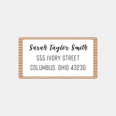 Nude Scribbles Return Address Labels