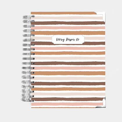 Nude Stripes Undated Ivory Paper Co Planner