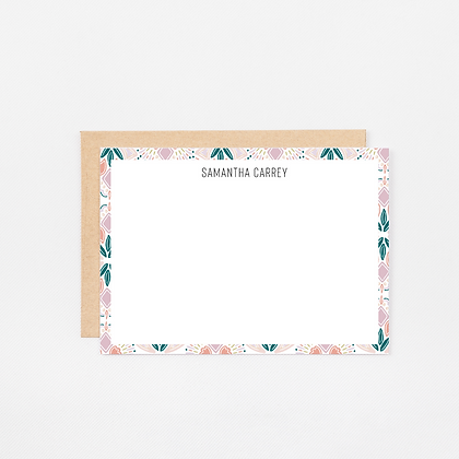 Colorful Geometric | Personalized Stationery Note Cards