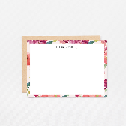 Blush Watercolor   Personalized Stationery Note Cards