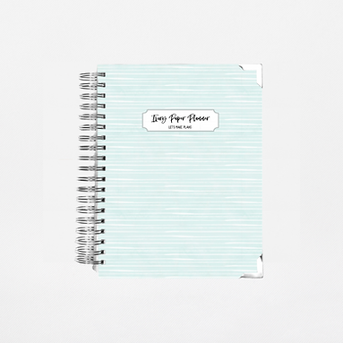 Pale Blue Stripes Undated Ivory Paper Co Planner