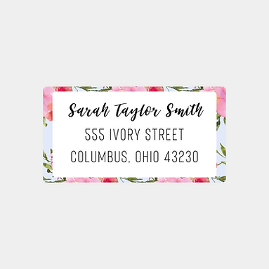 Pale Blue Watercolor Return Address Labels