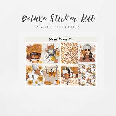 Hello Fall   Deluxe Kit (Glossy Planner Stickers)