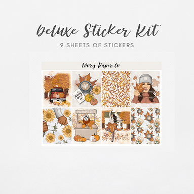 Hello Fall | Deluxe Kit (Glossy Planner Stickers)