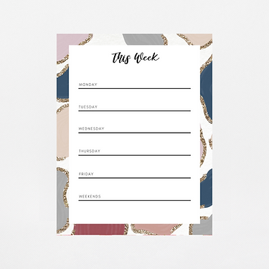 Glitter Animal Print Weekly Notepad   Customize Me