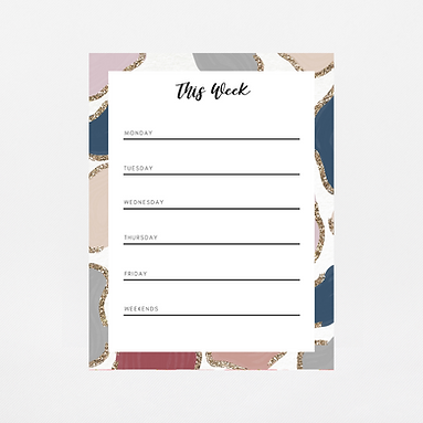Glitter Animal Print Weekly Notepad | Customize Me