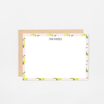 Pink Lemons | Personalized Stationery Note Cards