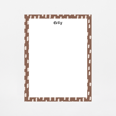 Brown Brush Strokes Notepad